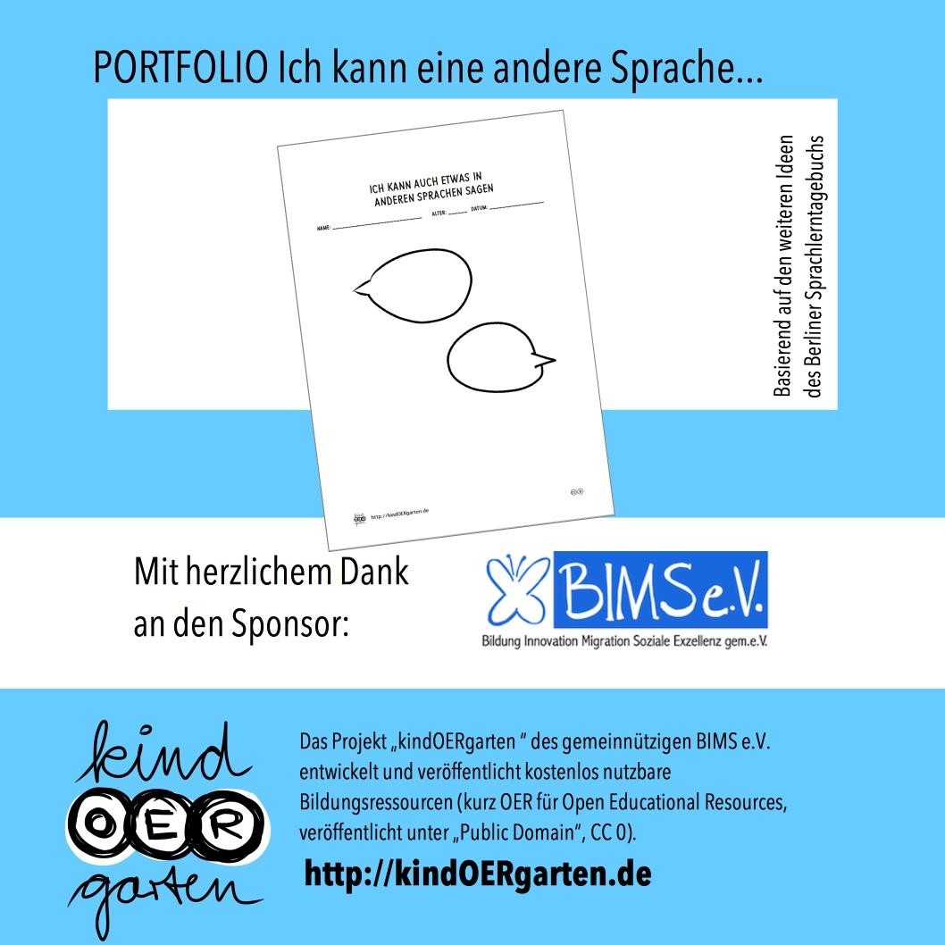 Portfolio: Ich kann eine andere Sprache …   #0054 – KindOERgarten.de ...