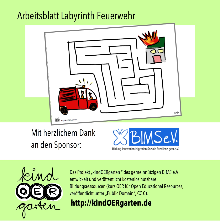 Labyrinth: Feuerwehr, es brennt! | #0052 – KindOERgarten.de – Freies ...